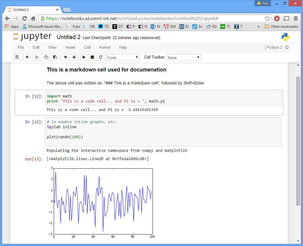 example of Jupyter Notebook